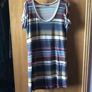 Venus striped T-shirt dress